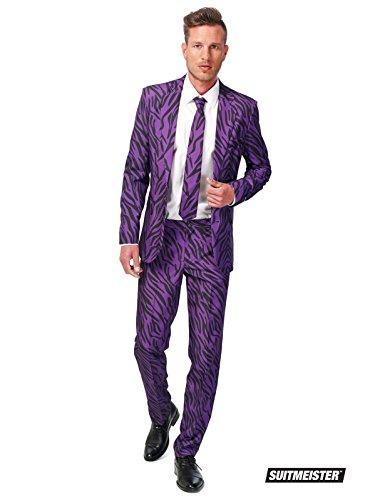 Generique - Violetter Tiger-Anzug Suitmaster für Herren S