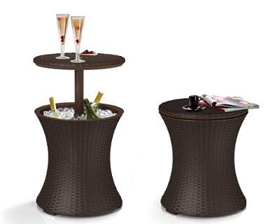 Keter Café- und Loungetisch Pacific Cool Bar, Braun