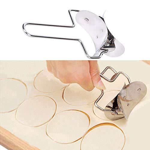 fun-love Runde Klöße Edelstahl Teigpresse Maschine und Nudelmaschine Stempel DIY Backwerkzeug Küche