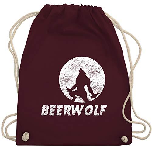 Statement Shirts - Beerwolf - Unisize - Bordeauxrot - WM110 - Turnbeutel & Gym Bag