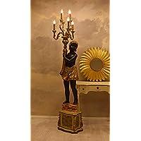 venezianische stehlampe schwarzer mohr barocke leuchte mohr links palazzo exclusiv