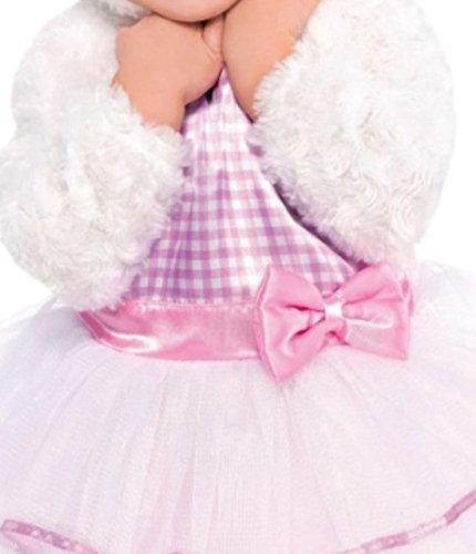 Kleinkind Lamm Mädchen Kostüm - erdbeerloft - Baby - Mädchen Süßes Lamm-Kostüm, Schäfchen, Kaneval, Faschingskostüm,, L, Weiß