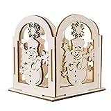 Happy Event Weihnachtskreative Geschenk-Dekoration | Mini Holz Kerzenhalter | Haus Dekoration (A)