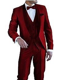 d1dac7e1aa8f Suit Me Herren 3-Teilig Anzug Tuxedos Hochzeiten Party Smoking Anzuege Sakko ,Weste,
