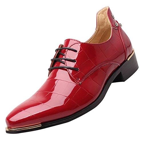 Oxford Lackleder Plain Toe Hochzeitskleid Schuhe Für Männer Lace Up Bequeme Formale Business...