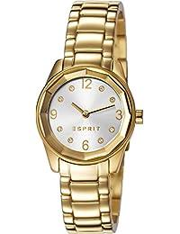 Esprit Damen-Armbanduhr Crystal Cut Analog Quarz Edelstahl ES106552007