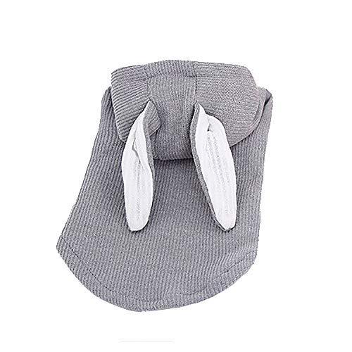 Welpen Kostüm Ohren - Jumpsuit T-Shirt Haustier Sweatshirt Kleidung, Welpen Hunde Kostüme Winter süßes Sweatshirt Bekleidung für Welpen Chihuahua Mops Weihnachtsfeier Dress up mit Ohren Small Large