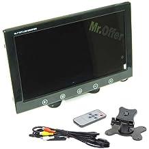 Monitor auto 9 pollici per parcheggio di Camper e furgoni. Monitor a colori ad incasso con telecomando, per telecamere di videosorveglianza