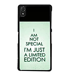 printtech Cool Quotes Back Case Cover for Sony Xperia Z3 , Sony Xperia Z3 D6653 D6603