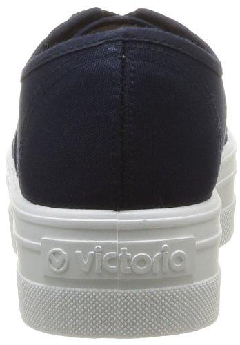 victoria - Sneaker Blucher Lona Plataforma, Donna Blu