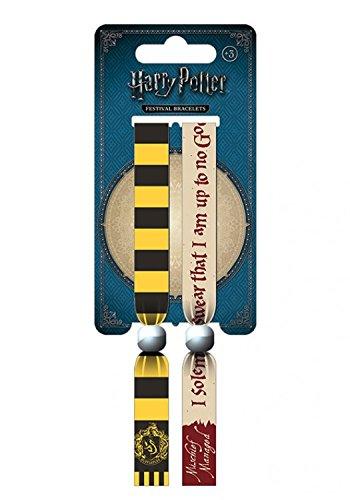 1art1 107966 Harry Potter - Hufflepuff, Wappen, Ich Schwöre Feierlich DASS Ich EIN Tunichtgut Bin Armband 10 x 2 cm -