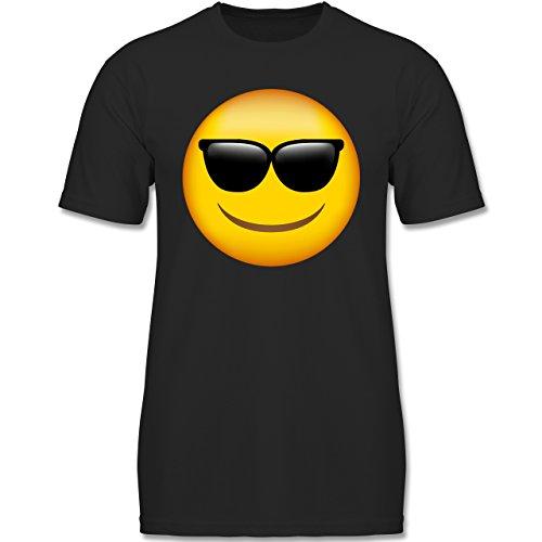 Muttertag & Vatertag - Emoji Sonnenbrille - 128 (7-8 Jahre) - Schwarz - F140K - Jungen T-Shirt (8 Gruppe Für Kostüme)