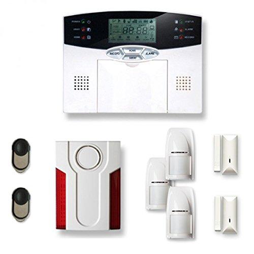 Alarme de maison sans Fil 2 à 3 pièces MN mouvement + intrusion + sirène extérieure
