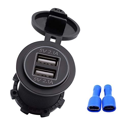 5 V 4.2A Dual USB Ladebuchse Adapter Outlet für 12 V 24 V Motorrad Auto Hoher Sicherheitskoeffizient mit LED-Anzeige 12v Dual Outlet
