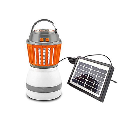 GUCL Zapper De La Mosca, La Luz UV Eléctrico con Energía Solar Trampa del Asesino del Mosquito De...