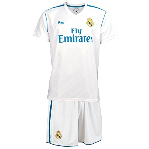 BOX SET 1ª EQUIPACION REAL MADRID REPLICA OFICIAL 2017-2018- TALLA 6 AÑOS