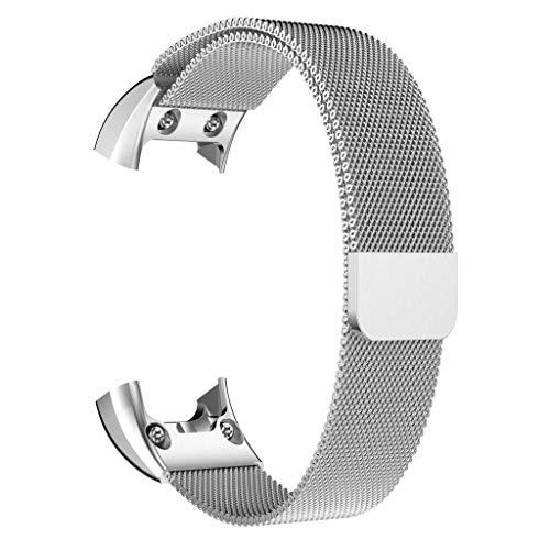 TianranRT Milanese Magnetisch Schleife Edelstahl Watch Band Gurt Für Garmin VIVOsmart HR (Silber)