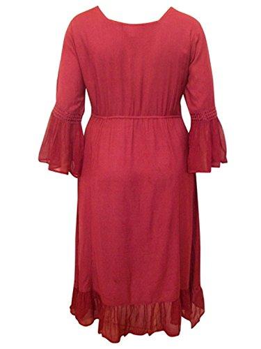 sarah-p gothique Vintage princesse médiéval LIGNE EMPIRE Robe soirée prune rouge