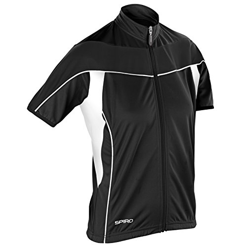 Spiro - Women's Spiro bikewear full zip top - EU / UK Mehrfarbig - White / Black