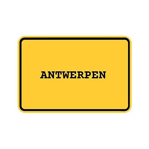 JOllify Aufkleber - Antwerpen - Farbe: Design: Ortsschild