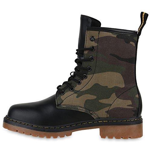 Bootsparadise Ladies Mens Bambini Unisex Stivaletti Stivali Da Lavoro Verde Flandell Camouflage