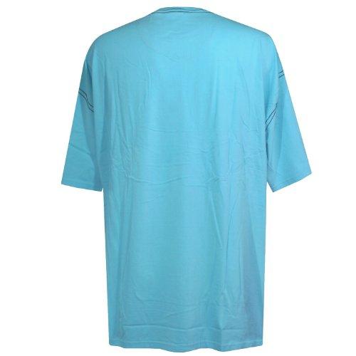 Kitaro, kurzarm Shirt T-Shirt, 131601-258, hellcyan navy [14733] hellcyan