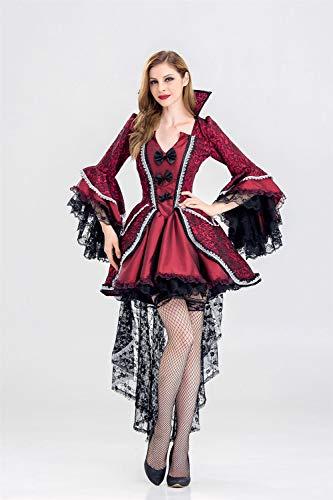 Kostüm Braut Monster - Ruanyi Ghost Festival Kostüm weiblichen Vampir Zombie Kostüm Halloween Geist Braut Masquerade Party Queen Kleid für Frauen (Size : XL)