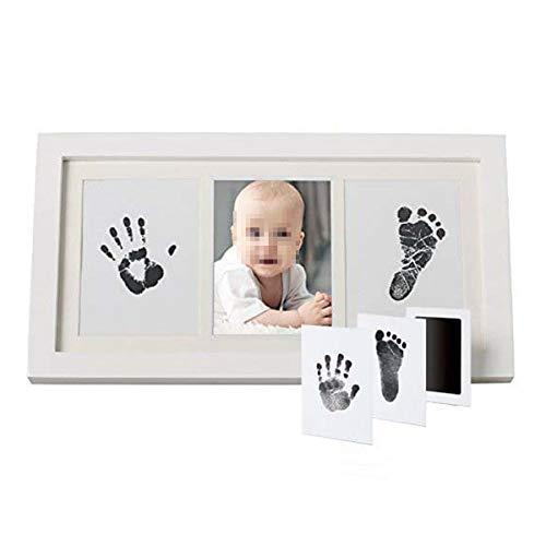 KUNSE DIY-Baby Fußabdruck Handabdruck Eindruck Tinte Kit Schatten Foto Frame Andenken Sicher Babypartygeschenk