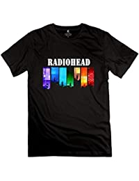 Mens Radiohead Rock Band Logo Cotton T Shirt