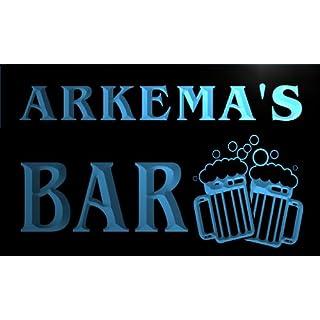 w106493-b ARKEMA Name Home Bar Pub Beer Mugs Cheers Neon Light Sign