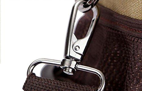 SYSI Retro Große Kapazität Sporttasche Handtasche Casual Portable Schultertasche Arbeit Umhängetasche Reise Messenger Bag Hochwertig Canvas Tasche--Unisex Braun