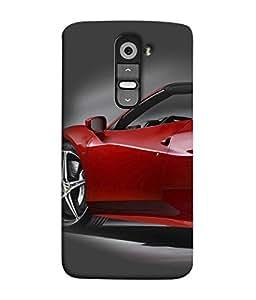 PrintVisa Designer Back Case Cover for LG G2 :: LG G2 Dual D800 D802 D801 D802TA D803 VS980 LS980 (Racing Fast Cars Side View Wheels Spikes)