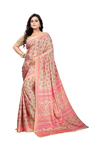 Jaanvi Fashion Women\'s Crepe Silk Printed Saree (studio-crepe-03_pink)