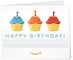 Happy Birthday (Muffins) - Printable Amazon.co.uk Gift Voucher