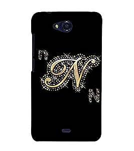 Fuson Designer Back Case Cover for Micromax Bolt Q338 (A Diamond Alphabet N Theme)