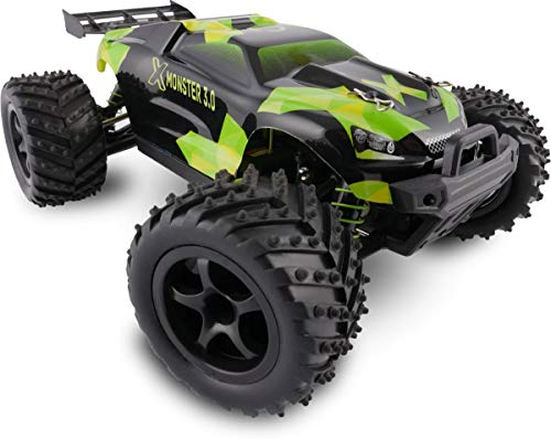 Overmax X-Monster 3.0 Monster Truck ferngesteuertes RC Auto - unglaubliche 45 km/h schnell - 1:18 Maßstab - 2 Akkus - Allrad - 100m Reichweite- Buggy*