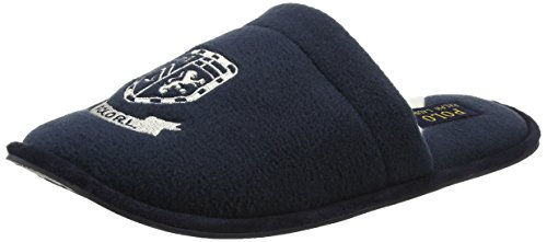 Polo Ralph Lauren Herren Men's Heritage Scuff Hinten Offen, Blue (Navy/Cream Fleece), 42 EU (Ralph Lauren Polo Hausschuhe)