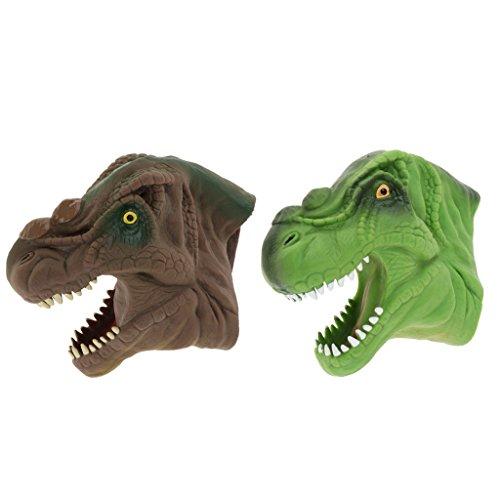 2 Unids Simulación Tyrannosaurus Cabeza Marioneta