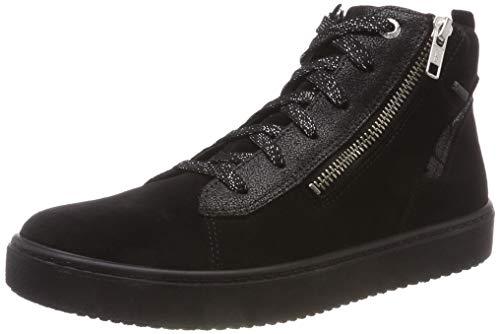 Superfit Mädchen Heaven Hohe Sneaker, (Schwarz 00), 38 EU