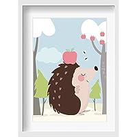 Bilder Kinderzimmer Poster SONDEREDITION Isa Igel - hochwertiger Druck auf Qualitäts-Papier, pastellfarben (ungerahmt)