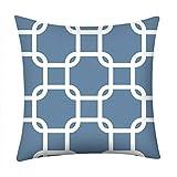 Yoostar,Mode Geometrische Muster Dekokissen Fall Retro Gitter Design Geschenk Kissenbezug Kissenhüllen(F)