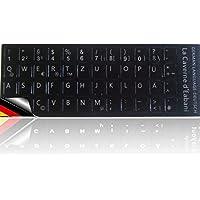 La Caverne d'Eabani ® Tastatur Aufkleber Tastaturaufkleber Deutsch für Notebook / Laptop
