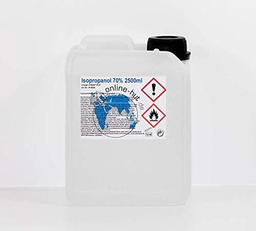 online-hut 2,5 Liter Isopropanol Isopropylalkohol 70%