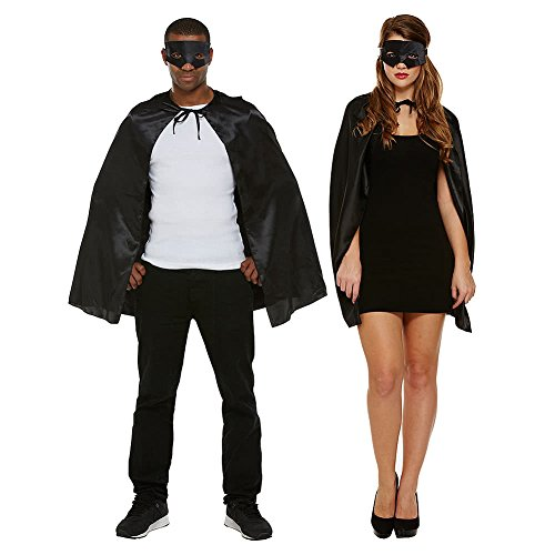 Fancy Zorro Kostüm Dress - Superheld Fancy Dress Kostüm (Schwarz)