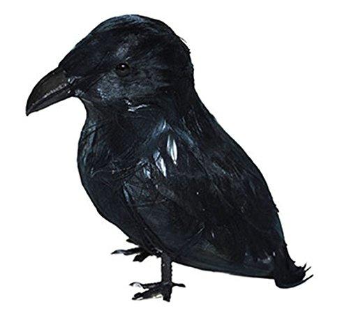 Dildoridoo - Halloween Dekoration Gruselige Krähe Rabe Party, 1 Stück, 9cm, Schwarz