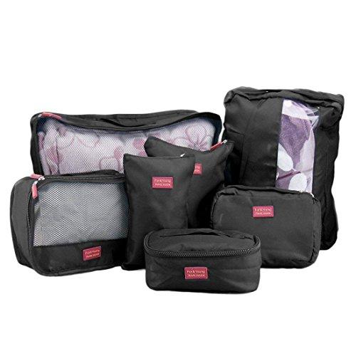 Juego de 7 bolsas esenciales de viaje para equipaje, maleta, bolsas de