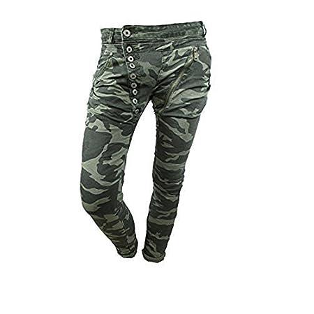 mozzaar damen jeans hose camouflage