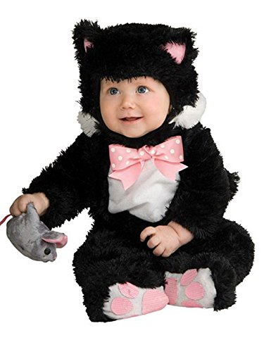 Inky Black Kitty Jumpsuit Baby Costume 12-18 Month