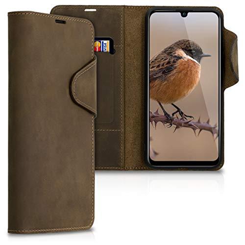 kalibri Huawei P Smart (2019) Hülle - Leder Handyhülle für Huawei P Smart (2019) - Handy Wallet Case Cover Leder Smart Cover