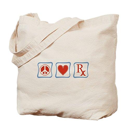 CafePress-Frieden, Liebe und Apotheker-Leinwand Natur Tasche, Reinigungstuch Einkaufstasche Tote S khaki -